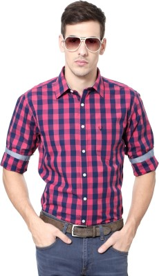Allen Solly Men's Checkered Casual Pink Shirt