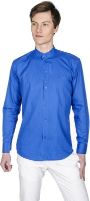 Poker Dreamz Men's Solid Casual Dark Blue Shirt