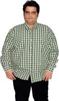 Xmex Formal Shirts (Men's) - XMEX Men's Striped Formal Green Shirt