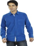 Tabard Men's Solid Casual Blue Shirt