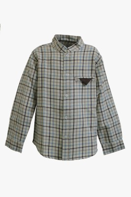 A Little Fable Boy's Solid Party Multicolor Shirt