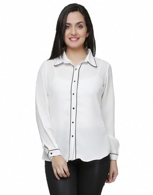 Eavan Women's Solid Casual White Shirt