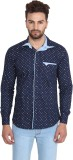 Caddy Cark Men's Printed Casual Dark Blu...