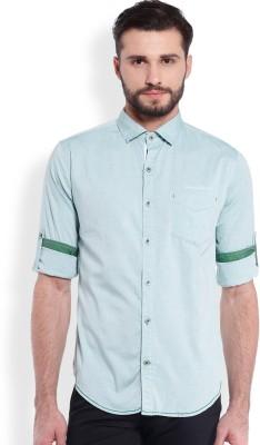 Skie Studio Men's Solid Casual Dark Green Shirt