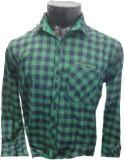 Spykey Men's Self Design Formal Green Sh...