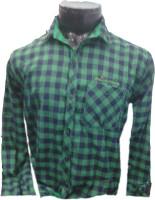 Spykey Formal Shirts (Men's) - Spykey Men's Self Design Formal Green Shirt