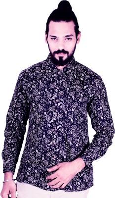 Flutter Men's Printed Casual Blue Shirt