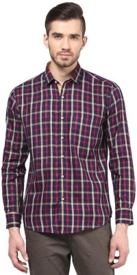The Vanca Men's Checkered Casual Red Shirt