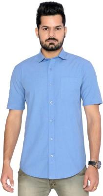 Thinc Men's Solid Formal Blue Shirt