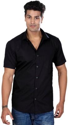 Pixo Men's Solid Casual Black Shirt