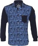 Lumber Boy Boys Printed Casual Blue Shir...