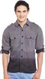 PUNK Men's Solid Casual Grey Shirt