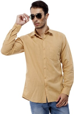 Trendy Bandey Men's Solid Casual Brown Shirt