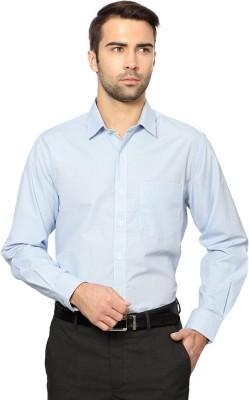 University of Oxford Men's Checkered Casual Blue Shirt