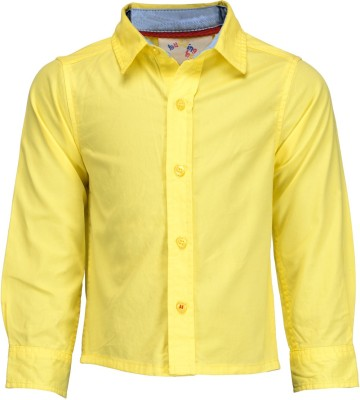 Budding Bees Baby Boy's Solid Casual Yellow Shirt