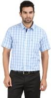 Classic Polo Formal Shirts (Men's) - Classic Polo Men's Checkered Formal White, Light Blue Shirt