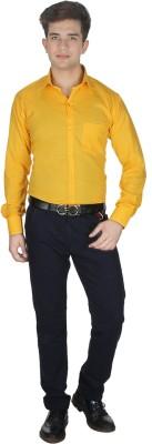 Shaurya-F Men's Solid Formal Yellow Shirt