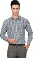 Peter England Formal Shirts (Men's) - Peter England Men's Checkered Formal Black, White Shirt