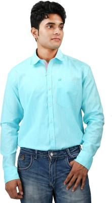 Relish Men's Solid Formal Blue, Pink Shirt