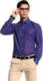 Cotton Crus Men's Solid Formal Purple Sh...