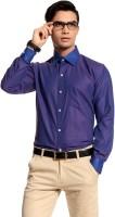 Cotton Crus Formal Shirts (Men's) - Cotton Crus Men's Solid Formal Purple Shirt