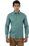 Aurus Men's Solid Formal Green Shirt