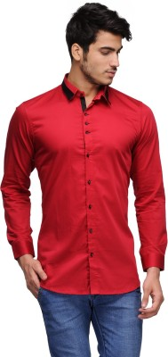 Feed Up Men's Solid Casual Red Shirt