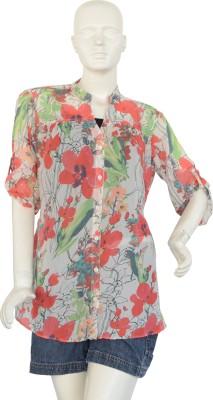 Jupi Women's Floral Print Casual White, Red, Green, Grey, Black Shirt
