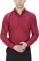 Willowy Formal Shirts (Men's) - WILLOWY Men's Solid Formal Maroon Shirt