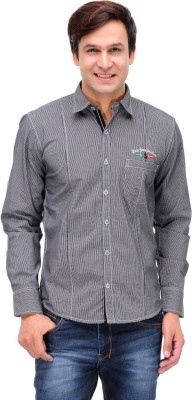 Finder Zone Men's Checkered Casual Black Shirt