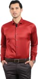 Solemio Men's Solid Casual Maroon Shirt