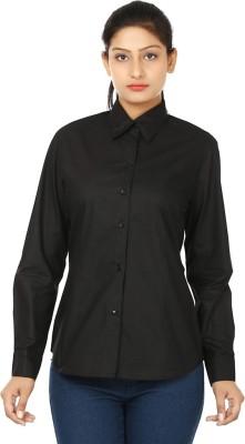 UrSense Women's Solid Casual Black Shirt