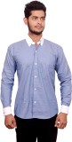 Signore Men's Solid Formal Blue Shirt