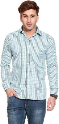 Pede Milan Men's Checkered Casual Light Blue Shirt