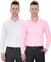 Regal Fit Plus Formal Shirts (Men's) - Regal Fit Plus Men's Solid Formal Multicolor Shirt(Pack of 2)