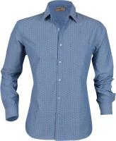 Aady Jones Formal Shirts (Men's) - Aady Jones Men's Printed Formal Blue Shirt