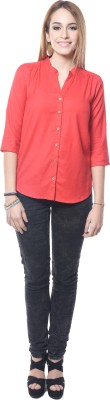 Westhreads Women's Solid Casual Red Shirt