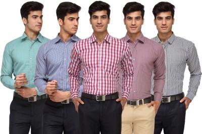 Rico Sordi Men's Checkered Formal Multicolor Shirt