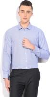 John Miller Formal Shirts (Men's) - John Miller Men's Self Design Formal White, Purple Shirt