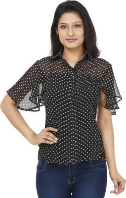 Today Fashion Women's Printed Casual Black, White Shirt