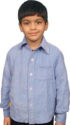 Fashion N Style Boy's Solid Casual Light Blue Shirt