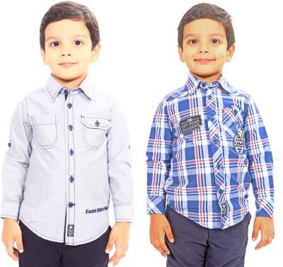 Bio Kid Boy's Solid Casual Multicolor Shirt