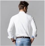 Archini Men's Solid Formal White Shirt