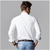 Archini Formal Shirts (Men's) - Archini Men's Solid Formal White Shirt