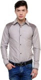 Ebry Men's Solid Formal Brown Shirt