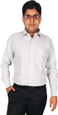Kuons Avenue Men's Solid Formal Grey Shirt