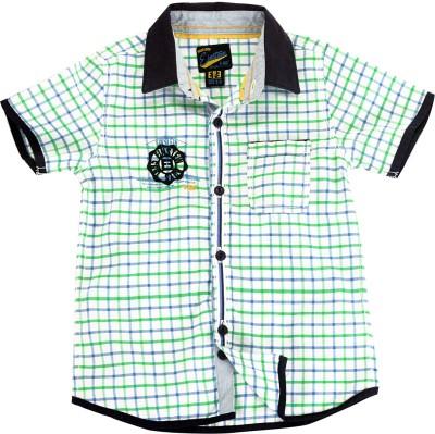 Einstein Boy's Checkered Casual Multicolor Shirt