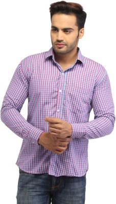 Pede Milan Men's Checkered Casual Pink Shirt