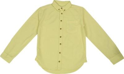 NOQNOQ Boy's Solid Casual Yellow Shirt