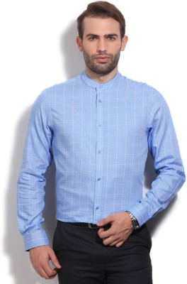Arrow New York Men's Checkered Casual Blue Shirt